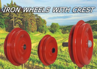 Iron wheels with crest